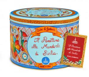 Panettone Fiasconaro Dolce & Gabbana alle Mandorle di Sicilia Kg.1